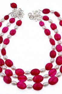 Collier grenat perles