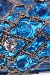 Broche Lézard bleu detail